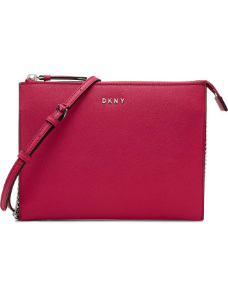 Flat Top Crossbody With Chain
