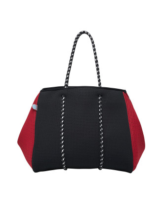 Raven Neoprene Tote Black/Red (Incl Lining/Pockets)