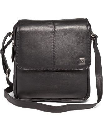 Leather Elements Square Flap Over Bag