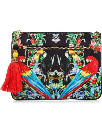 Toucan Play Small Canvas Clutch