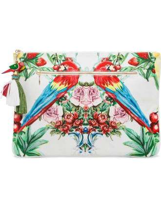 One Flew Over Large Canvas Clutch