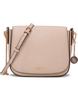 Sutton Leather Textured Saddle Bag Medium