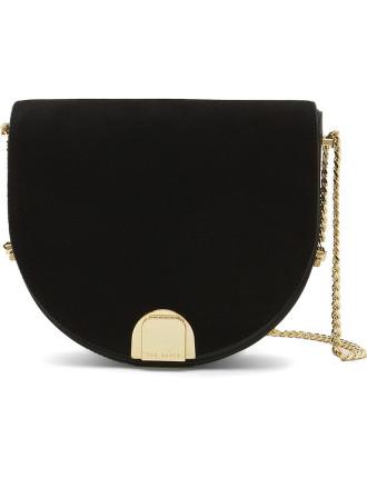 Mini Suede Detail Moon Bag