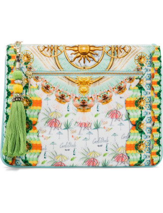 Sundowners Small Canvas Clutch