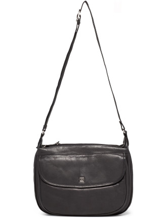 Leather Romany Flap Hobo