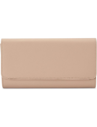 Lee Saffiano Fold Over Clutch