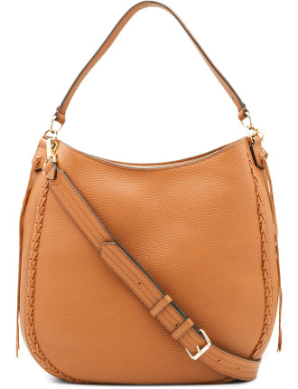 Unlined Convertible Hobo With Whipstich