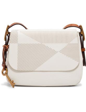 Harper Small Crossbody Leather White