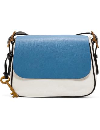 Harper Small Crossbody Leather Blue