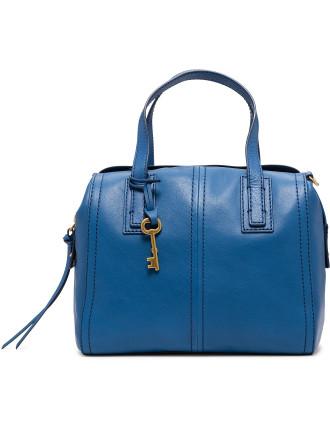 Emma Satchel Leather Blue