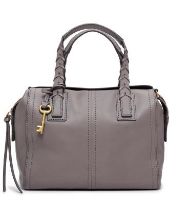 Emma Satchel Leather Gray