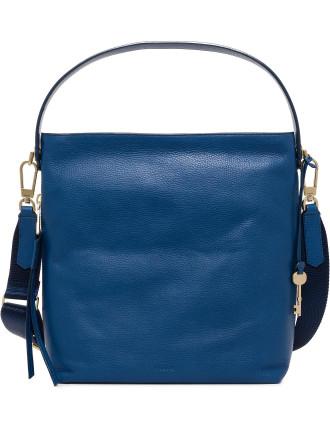 Maya Hobo Leather Blue