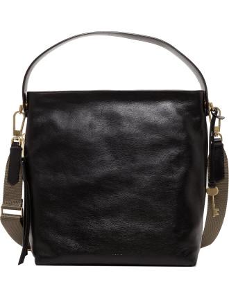 Maya Hobo Leather Black