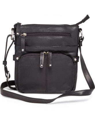 Leather Small Pocket Sling Bag