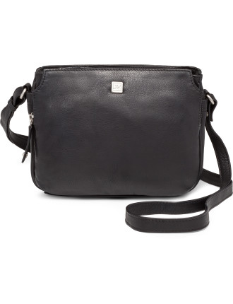 Leather East/West Mini Sling Bag