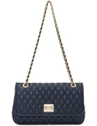 Quilted Shoulder Bag W Two Chain Straps $299.00