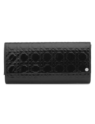 Quilted Embossed Patent Fold-Over Clutch