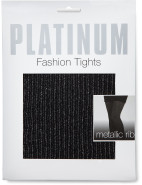 Platinum Metallic Rib Tights $11.86