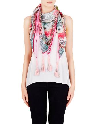 Colour Currency Silk Tassle Scarf