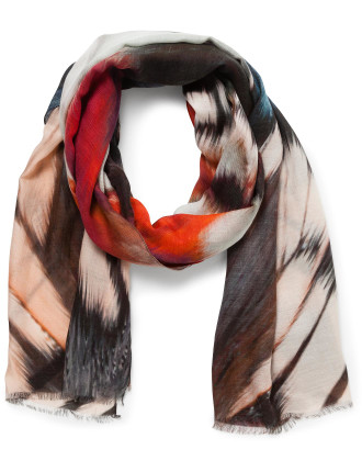 Feather Modal Wool Scarf