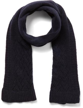Pepita Yarn Knitted Lacy Scarf