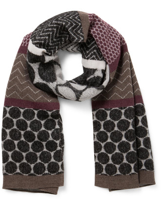 WOOL/MODAL WOVEN LADIES WRAP