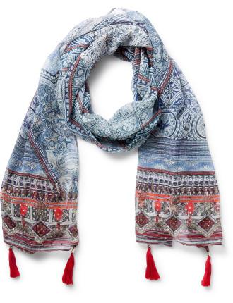 Antique Batik Long Scarf