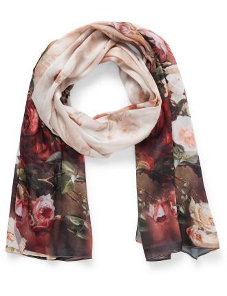 Winter rose scarf
