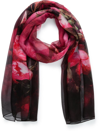 Winter peony scarf