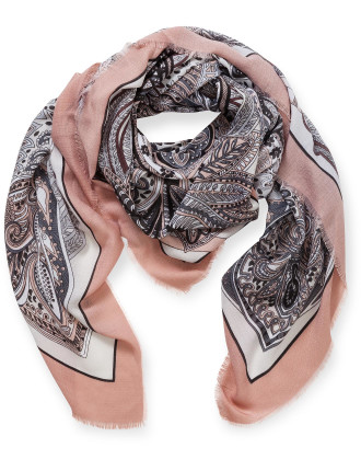 LARGE SQUARE PAISLEY SCARF