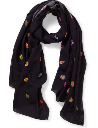 WOMEN SCARF KYOTO FLORAL