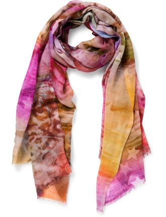 Pisces Wool/Silk Digital Print Scarf