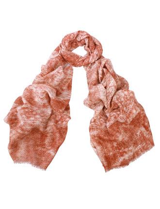 Logan Large Chevron Print Wool/Silk/Cashmere Scarf