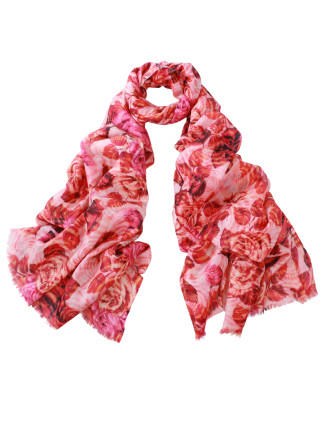 Bloom Wool/Silk Digital Print Wrap