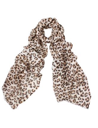 Animal Print Wool/Silk Scarf