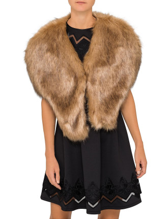 FAUX FUR SHOULDER WRAP
