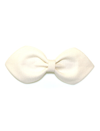 LINEN POINTED BOW CLIP