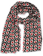 LOVE HEART PRINTED SCARF $39.95