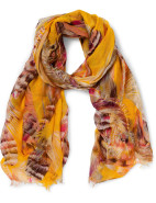LEAVES PRINTED SCARF $39.95