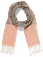 TWO TONE SPOT PRINTED SCARF $39.95