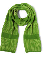 Wool Blend Knitted two tone Ribbed Scarf $54.95