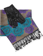 Boxed Scarf And Leather Glove $120.00