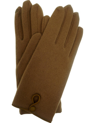 Wool Glove With Keyhole Button