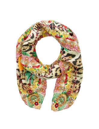 Cool Cat Large Square Scarf
