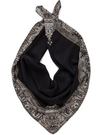 Black Large Square Scarf