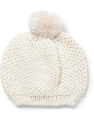 Knitted Cap With Pom2