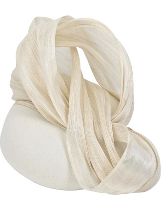 Pillbox With Large Silk Abaca Bow
