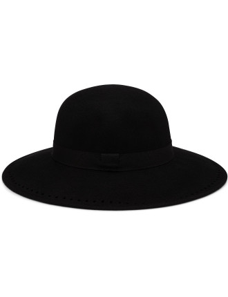 Women Hat Brogued Brim