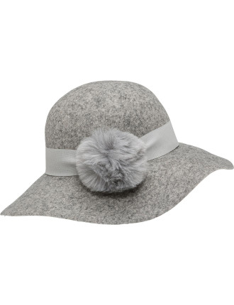 WOOL FELT FLOPPY LADIES HAT