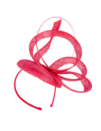 FASCINATOR WITH LOOPS AND FEATHER
